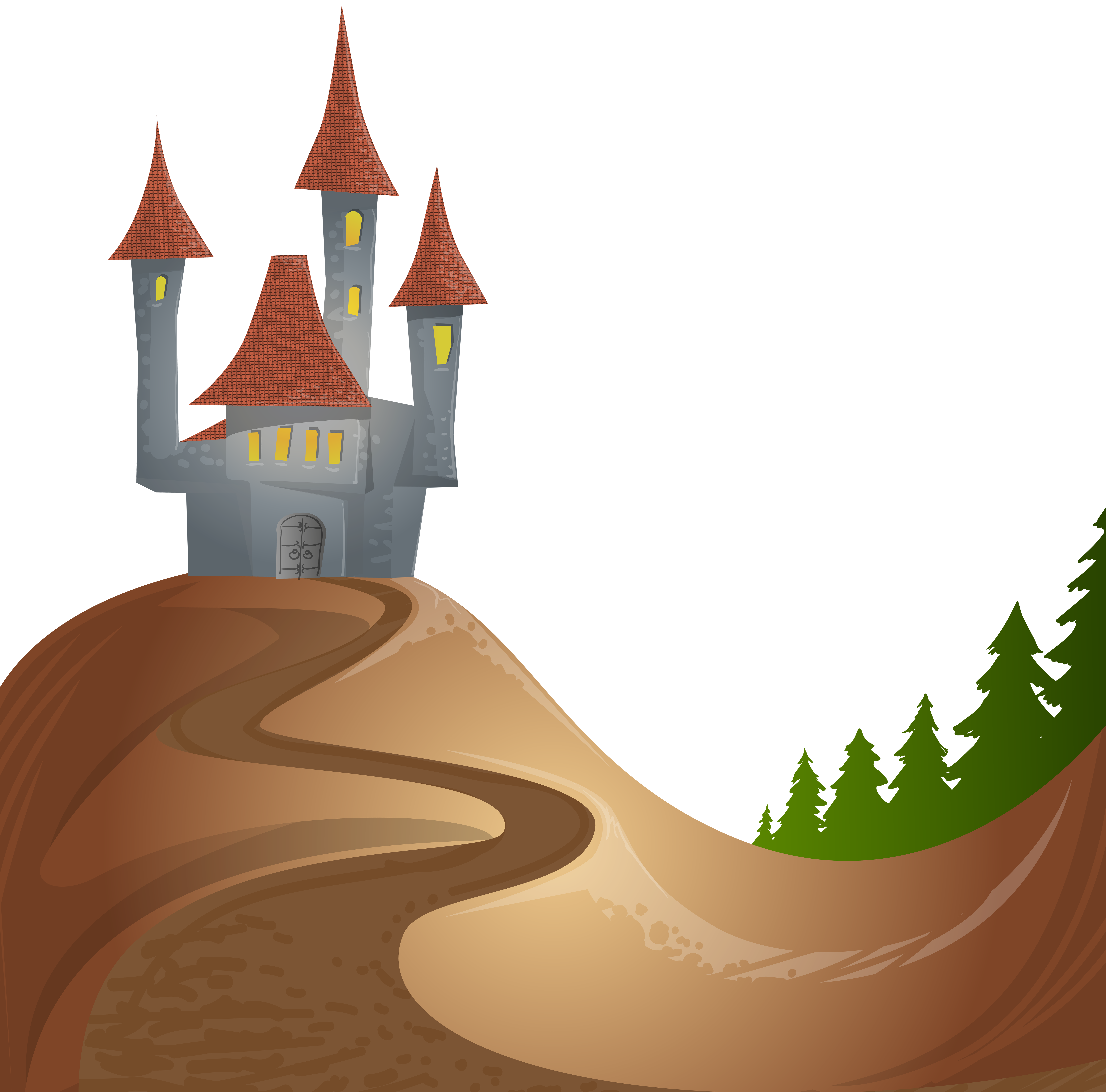 On free png clip. Clipart castle hill