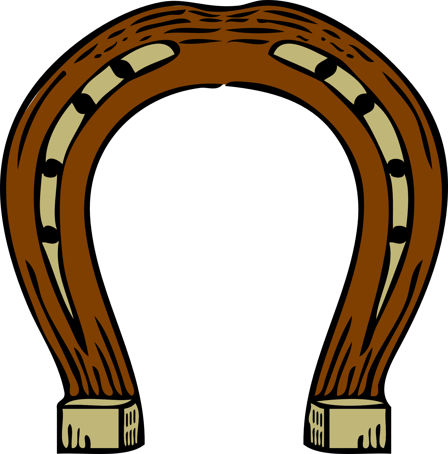 Horseshoe clip art brown. Clipart castle horse