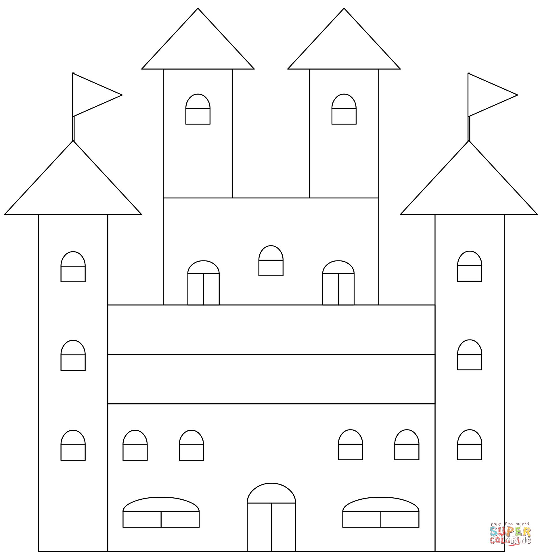 Clipart castle ireland. Coloring page free printable