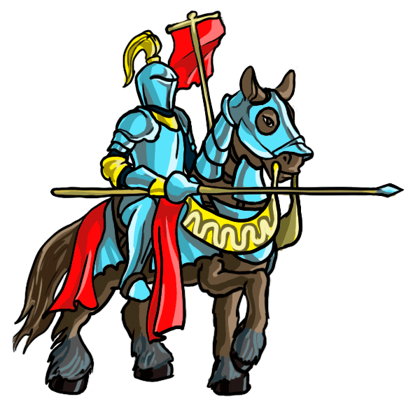 Cartoon knight drawing at. Knights clipart standing
