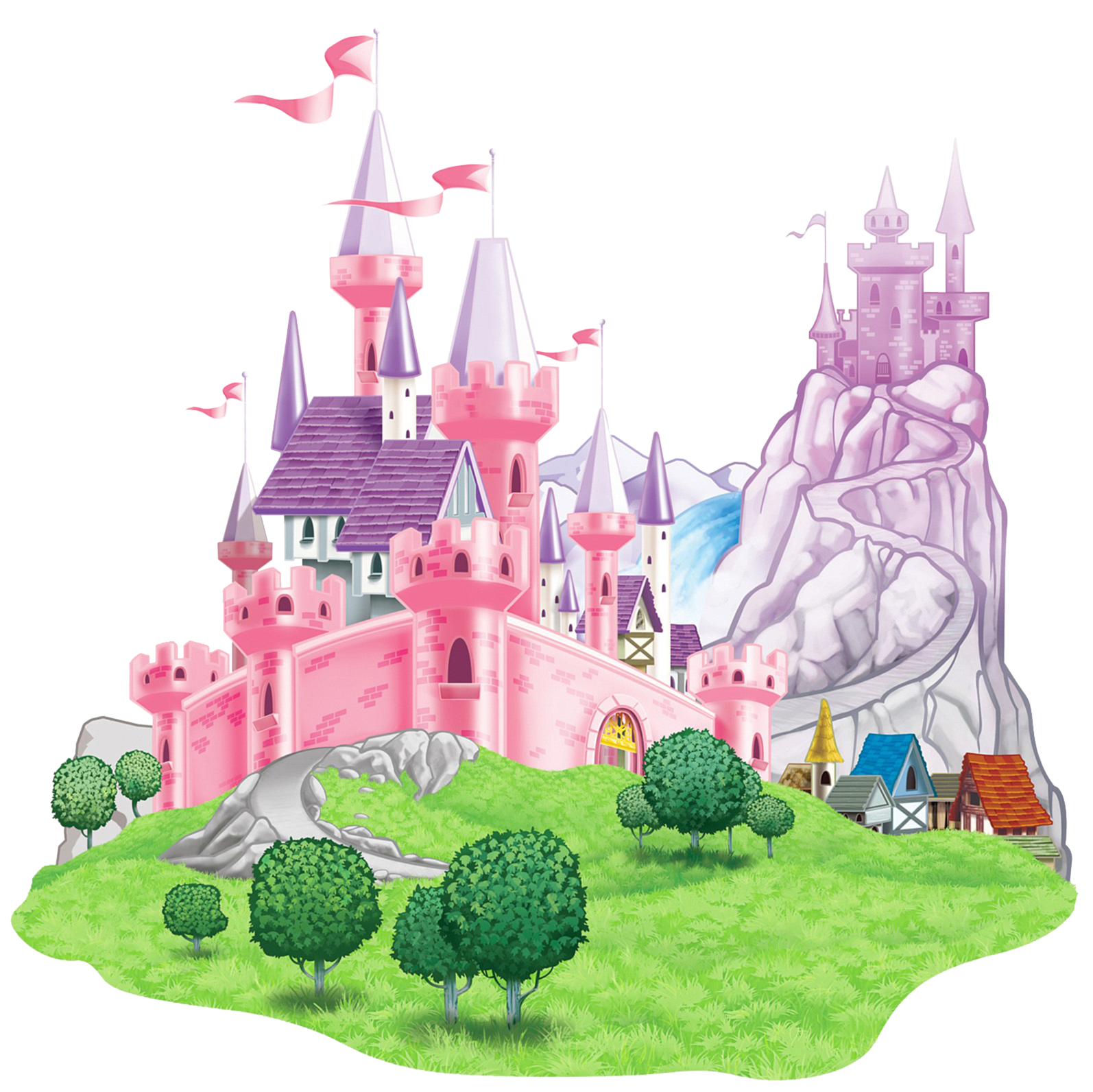 Landscape clipart castle. Transparent picture png gallery