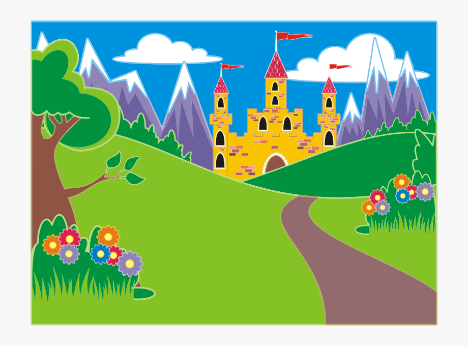 Fairytale clipart tree. Unicorn landscape icon png