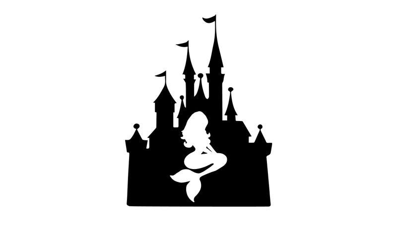 Clipart castle little mermaid. Disney svg family cut