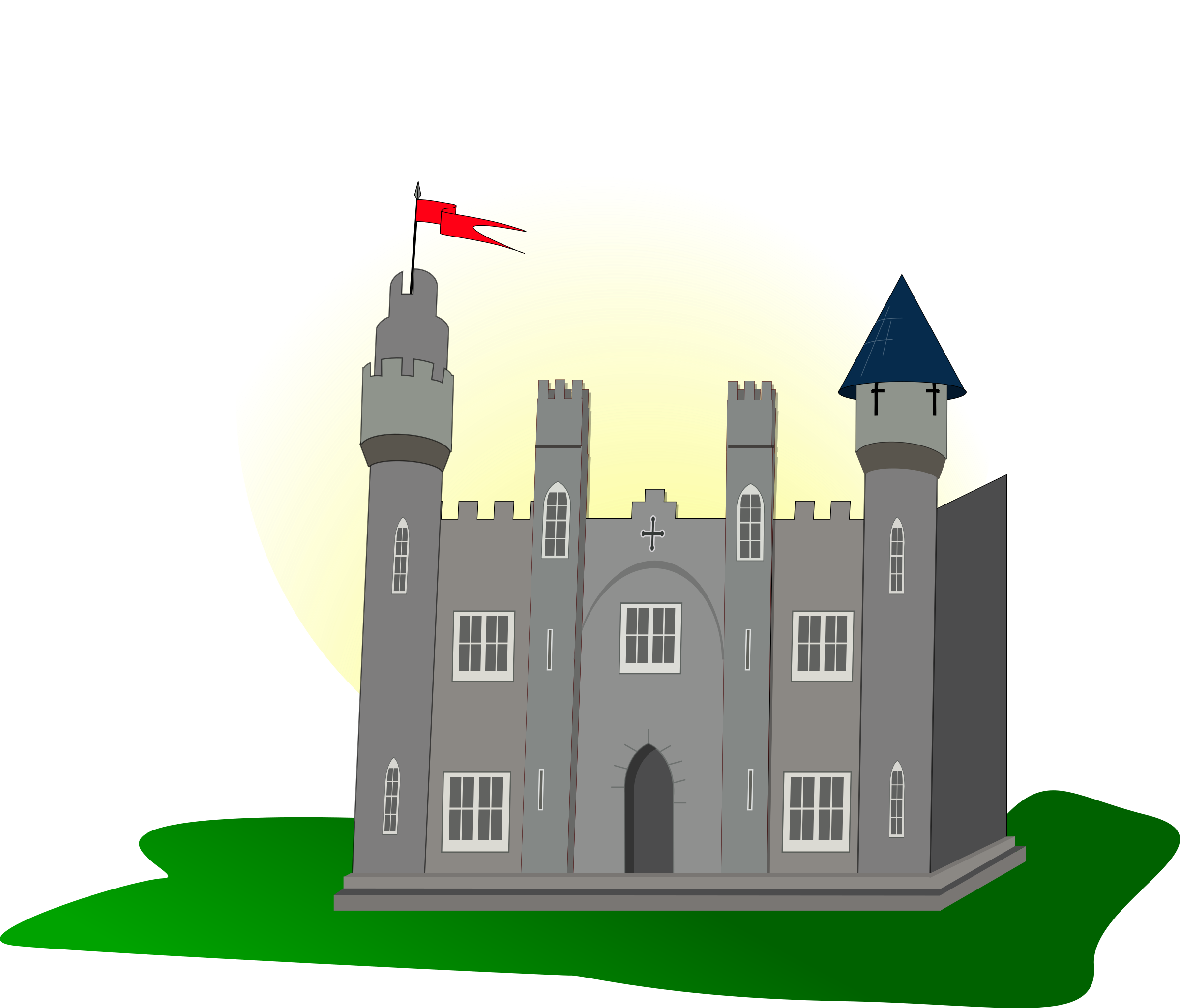 With flag big image. Palace clipart castle welsh