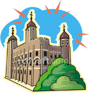Tower of in england. Clipart castle london