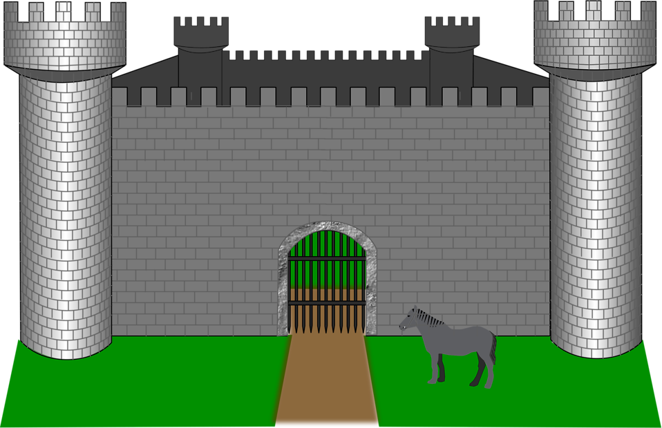 Castle free stock photo. Gate clipart border wall