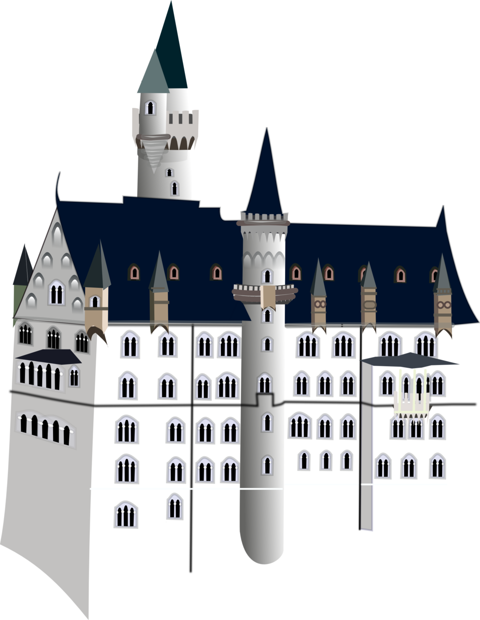 Public domain clip art. Clipart castle mansion