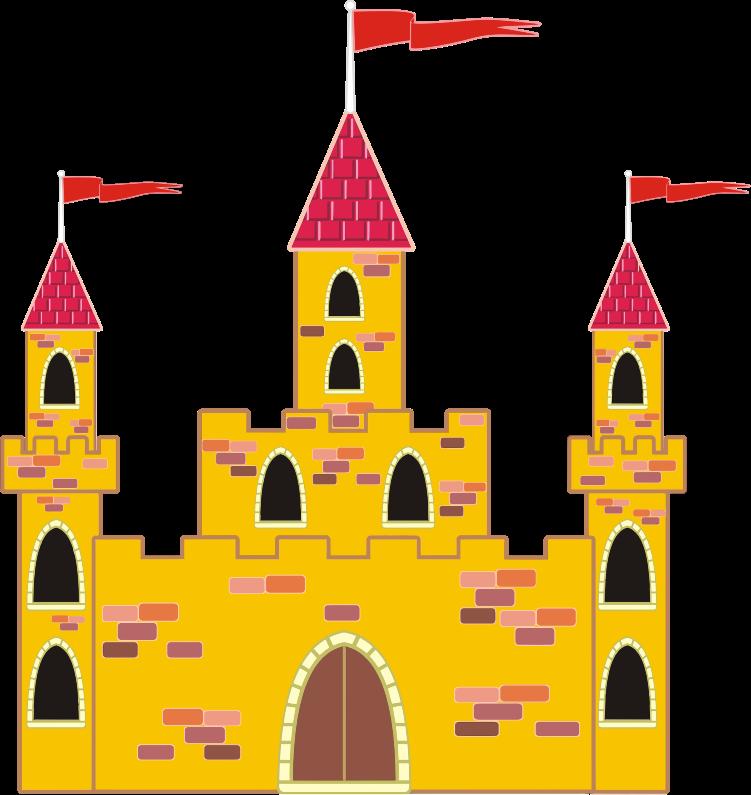 Clipart castle medieval. Colorful medium image png
