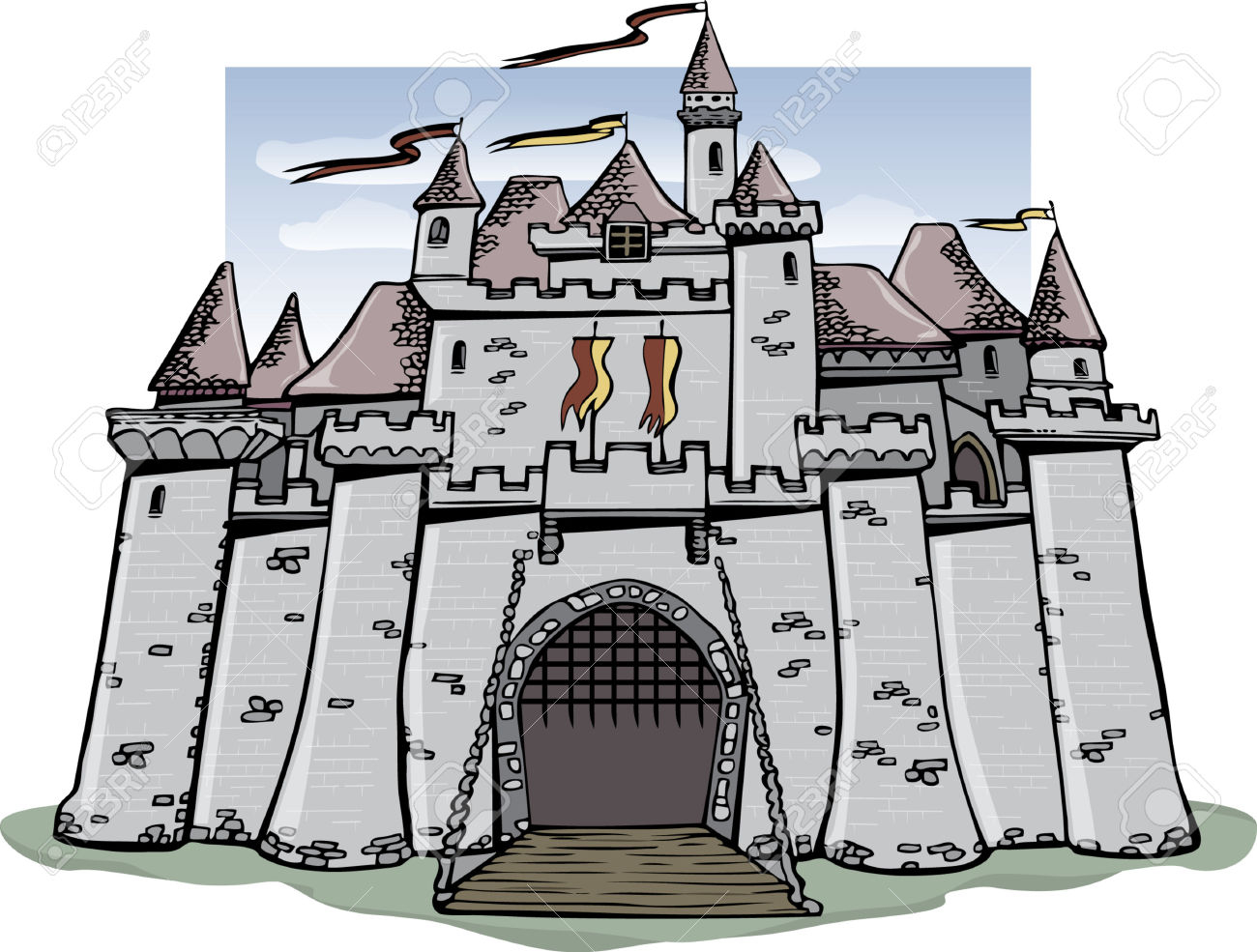 Clipart castle medieval. Free download clip