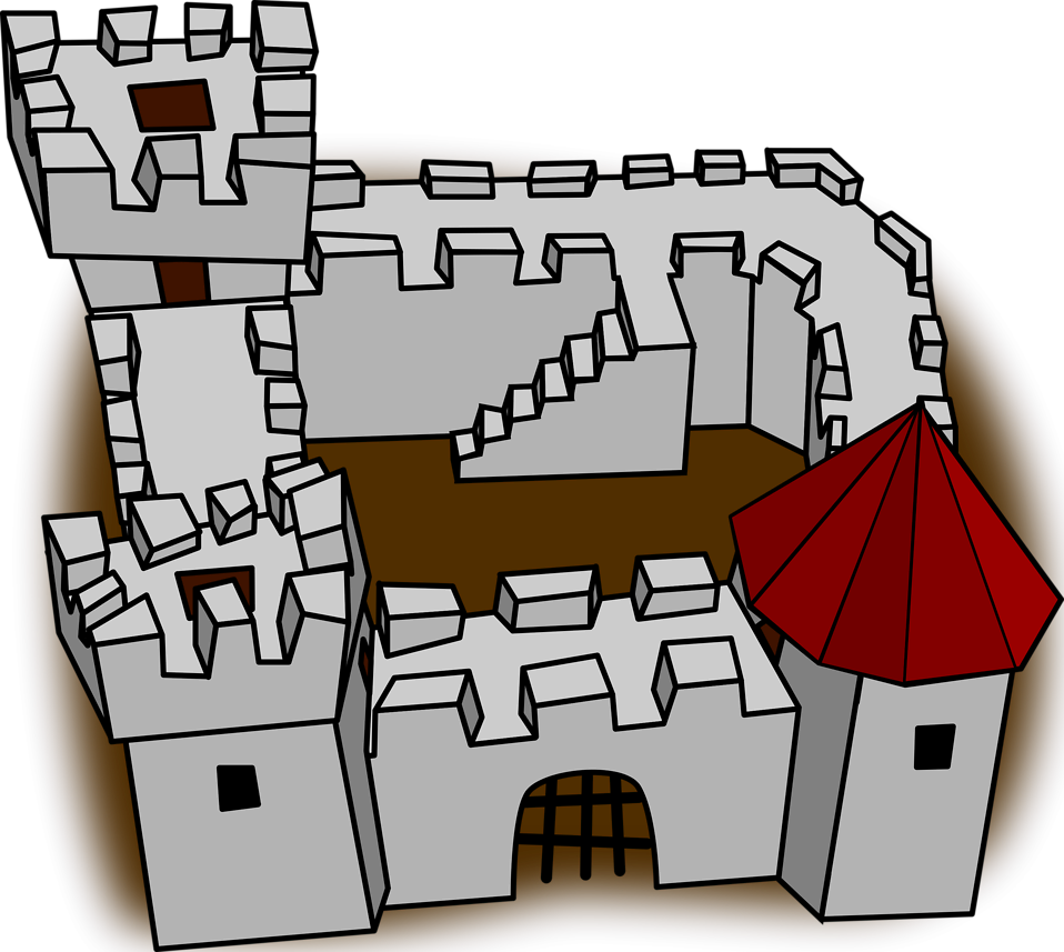 Clipart castle medieval town. Free stock photo illustration