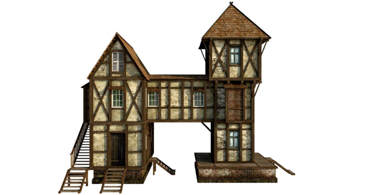 Clipart castle medieval village. House png by fumar