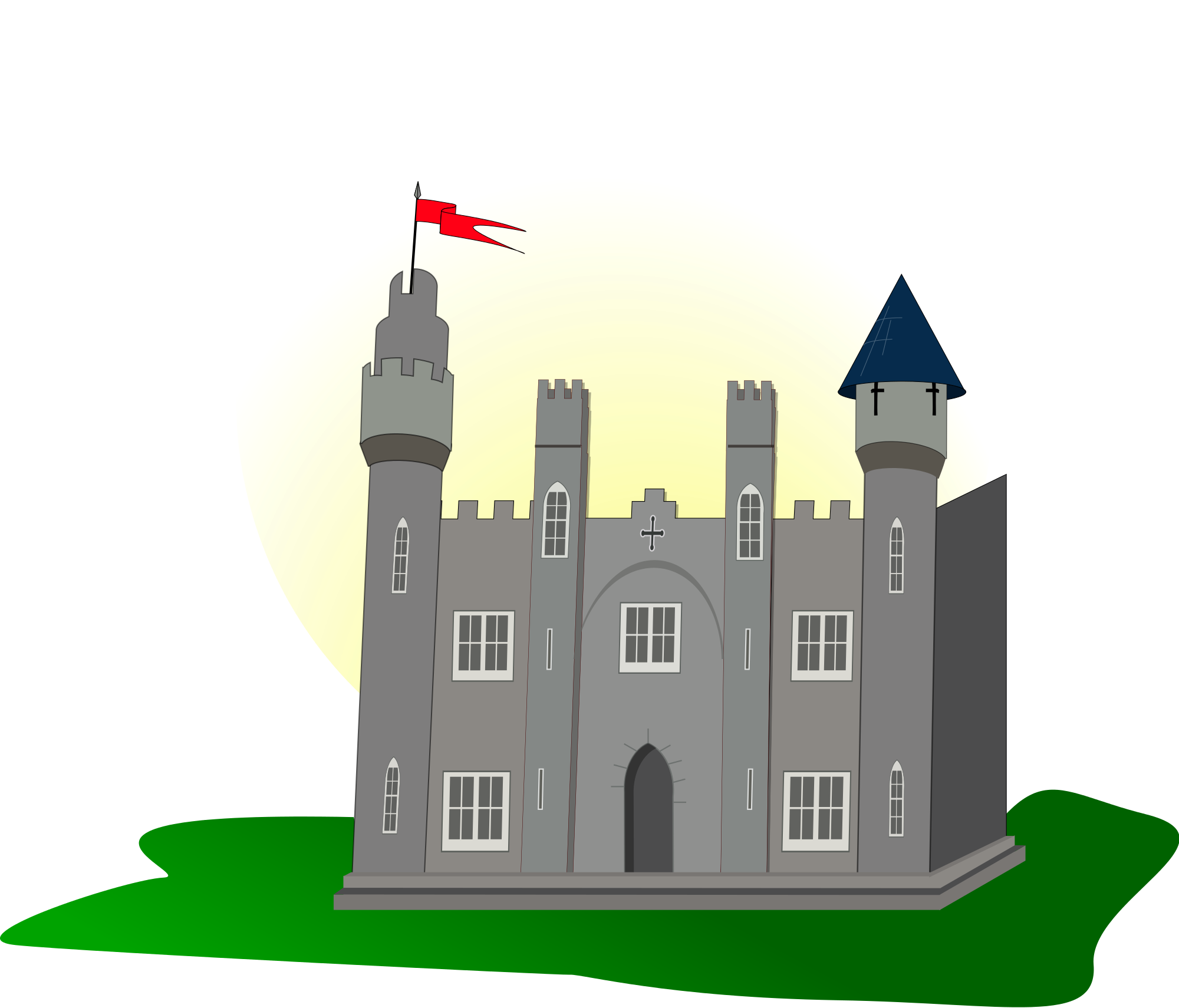 Clipart castle medieval village. File with flag svg