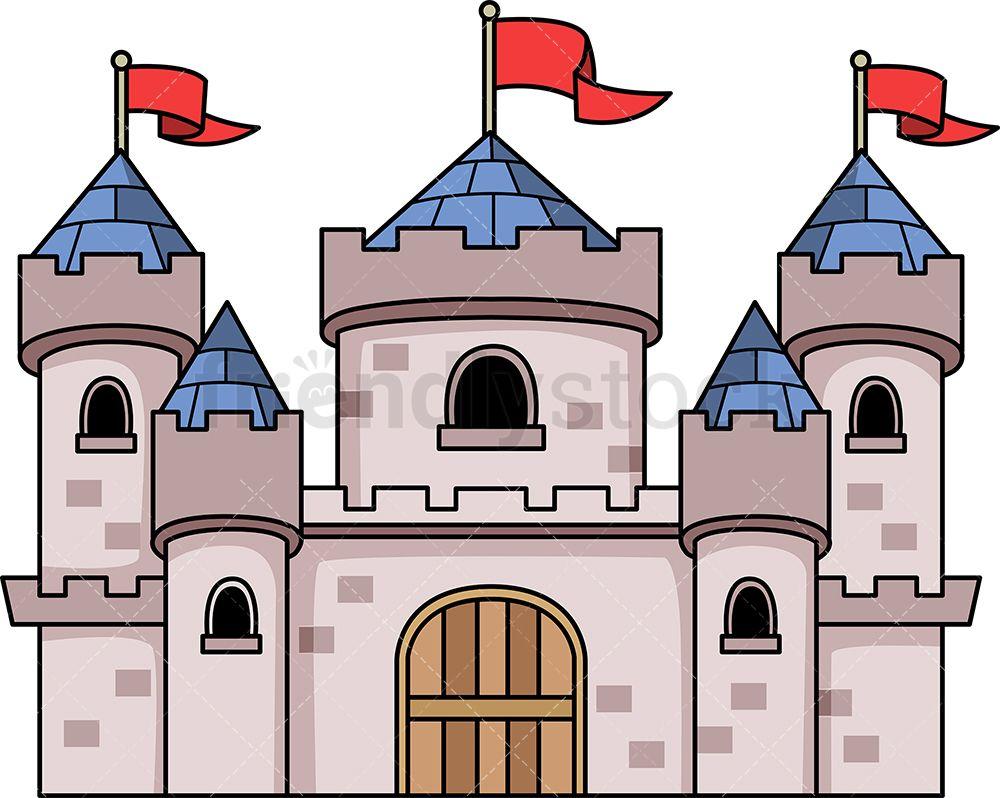 Clipart castle medieval. Art cartoon vector