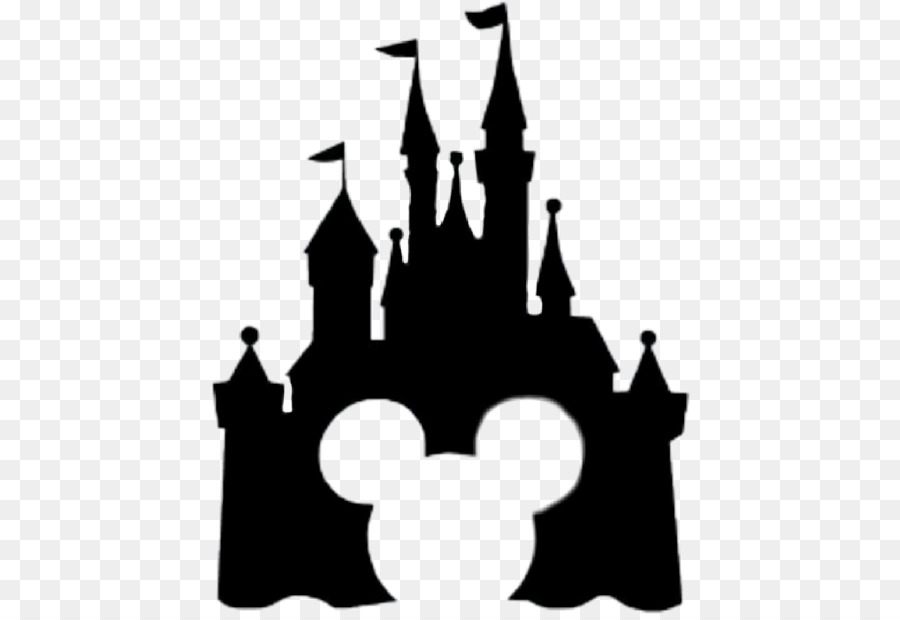 Clipart castle mickey mouse. Free silhouette download clip