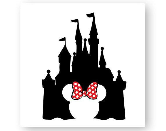 Clipart castle minnie mouse. Disney bow mickey head