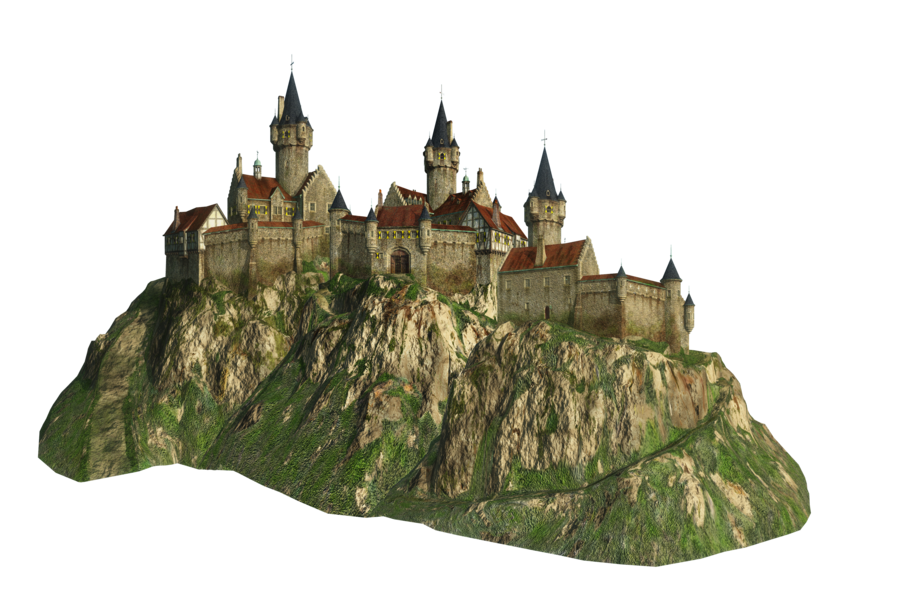 High resolution castle png. Clipart mountain cute