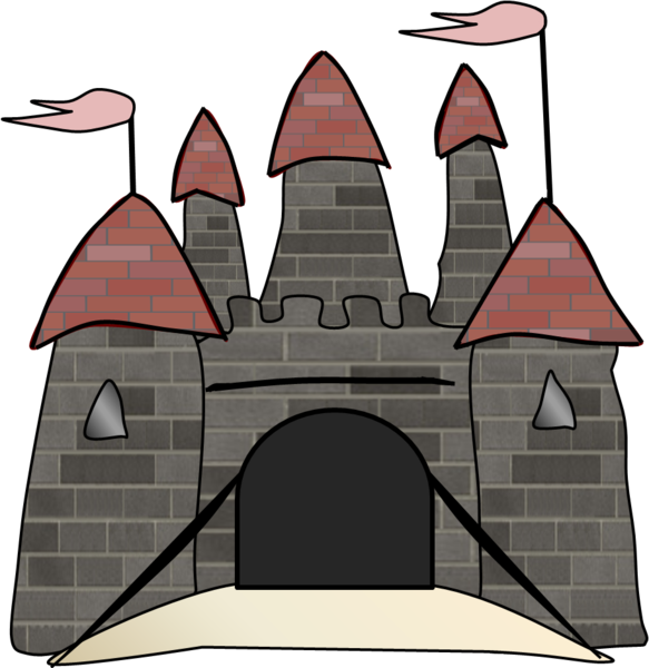 Clipart castle outline. Free images at clker