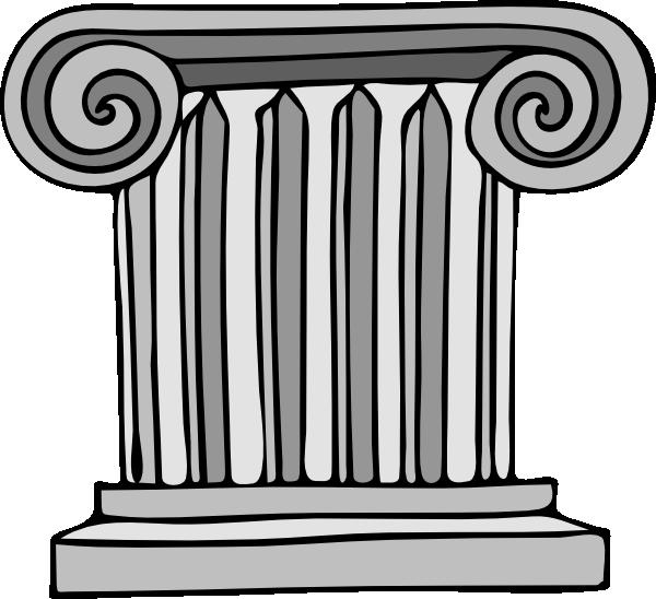 Cartoon column clip art. Clipart castle pillar
