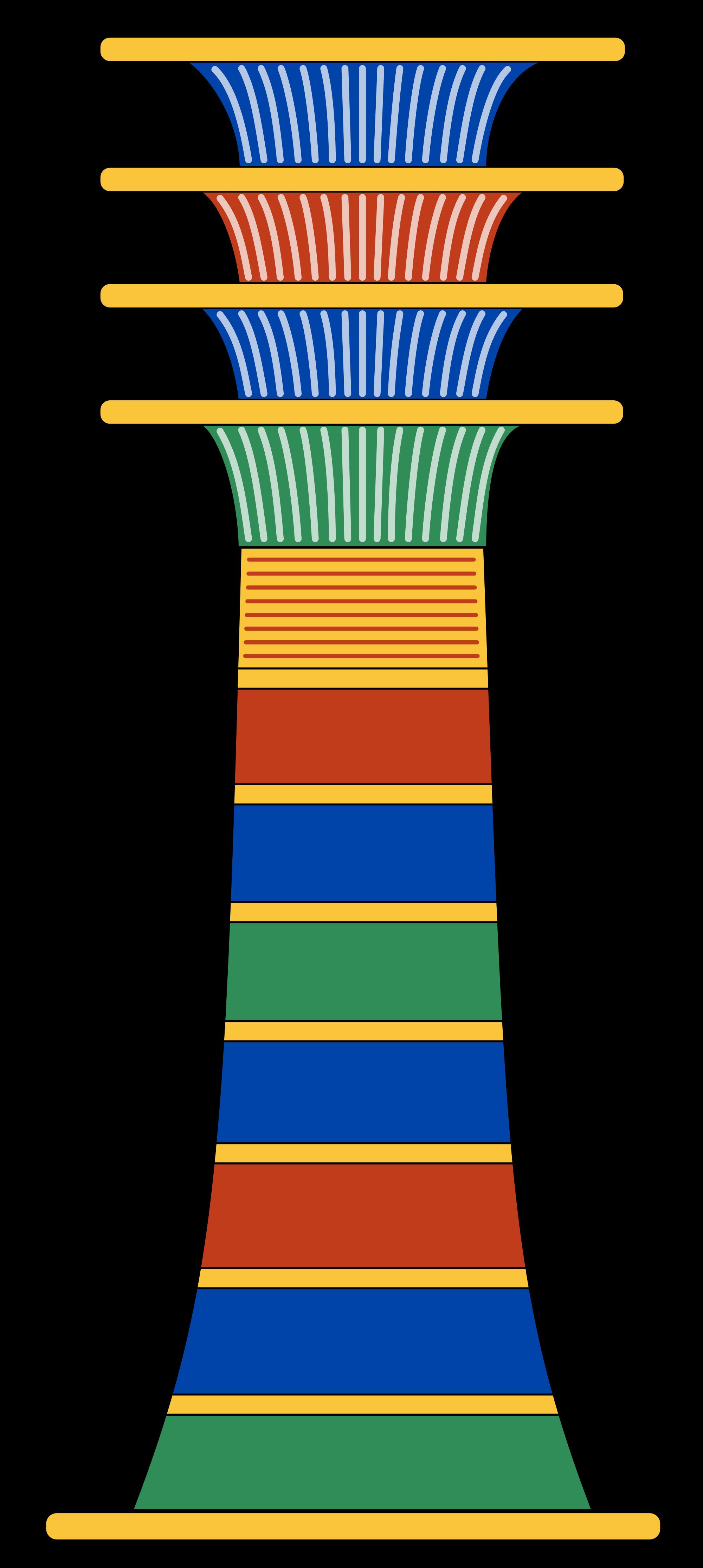 File djed svg wikimedia. Clipart castle pillar