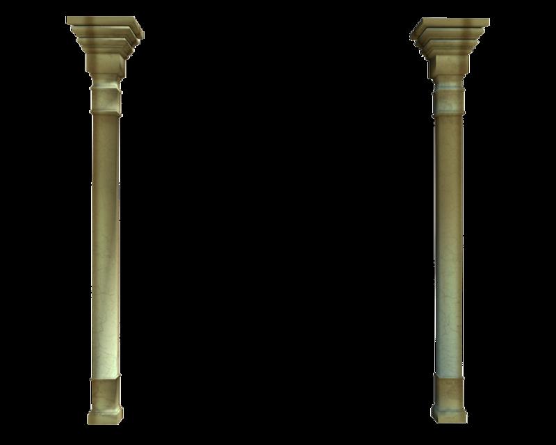 Clipart castle pillar. Tall wall columns stock