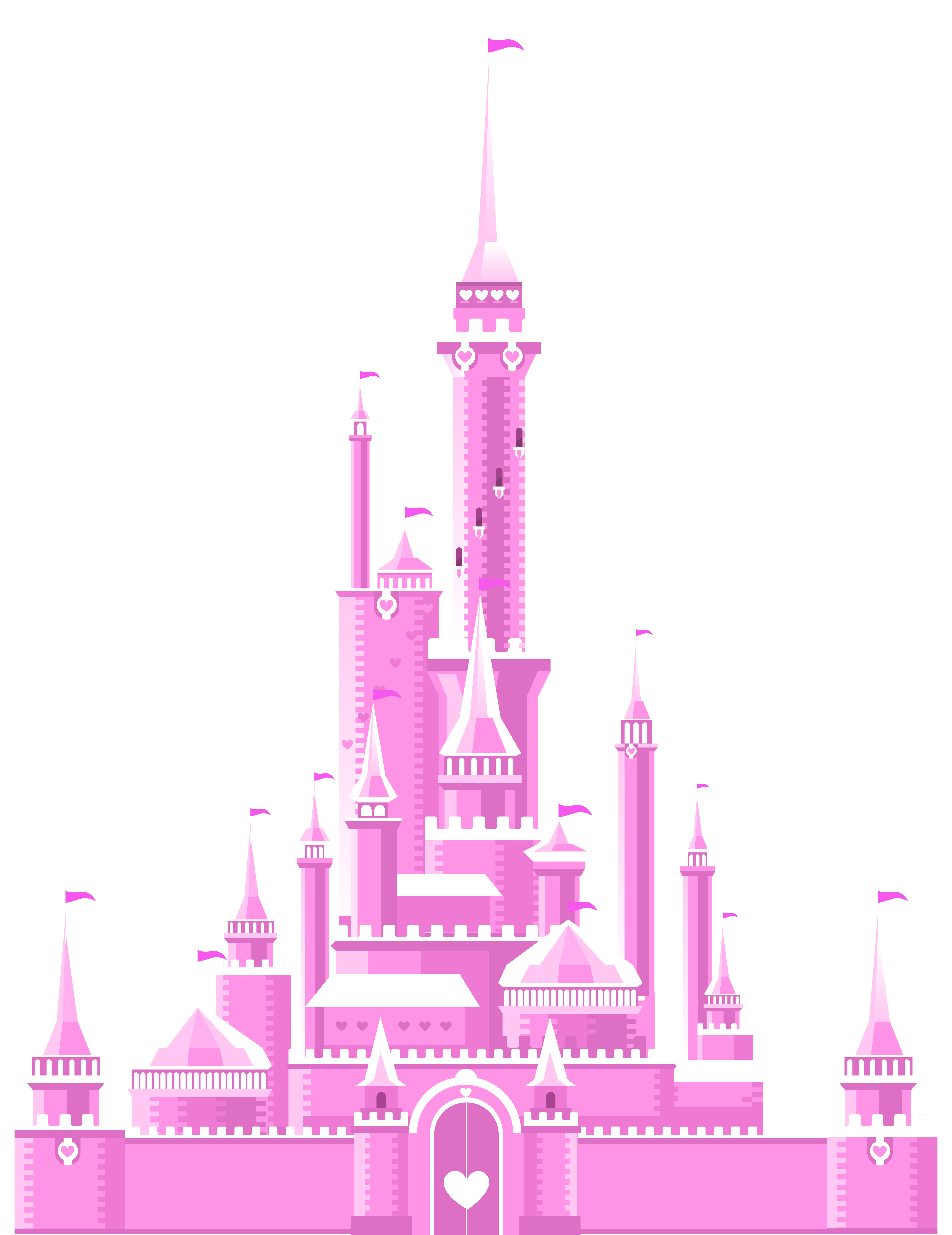 Pink Castle PNG Clipart Picture
