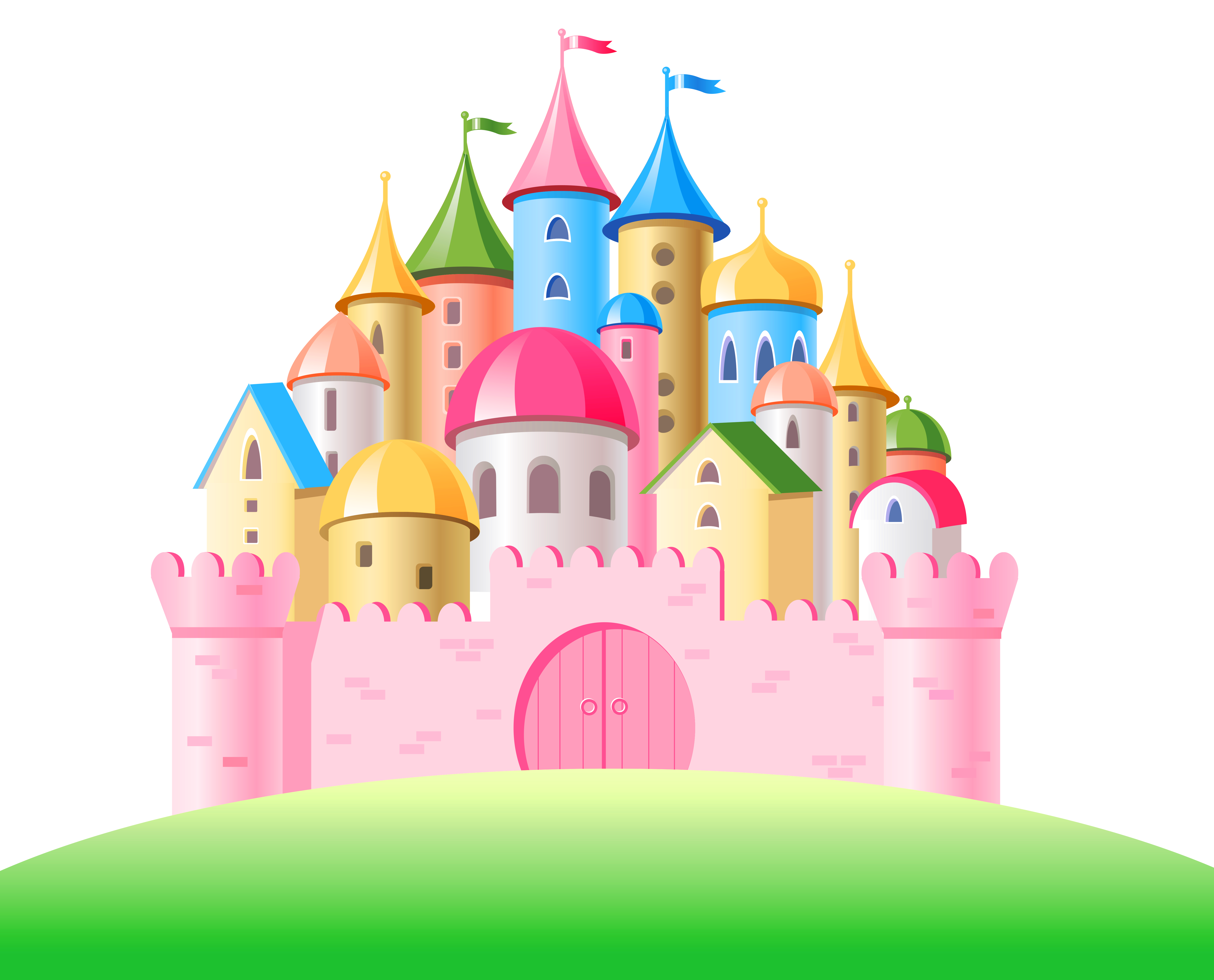 Transparent png gallery yopriceville. Clipart castle pink