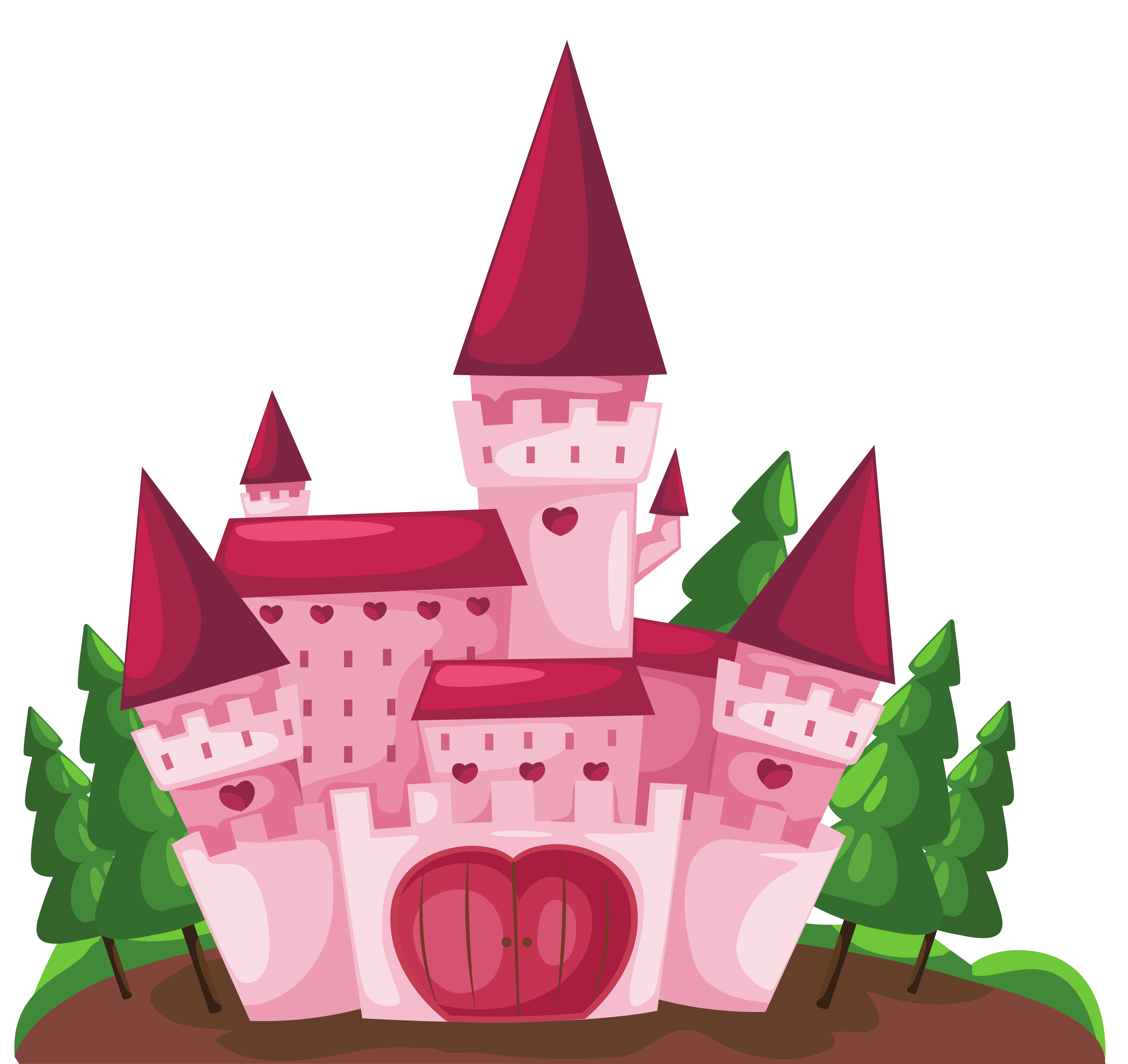Clipart castle pink. Transparent png picture gallery