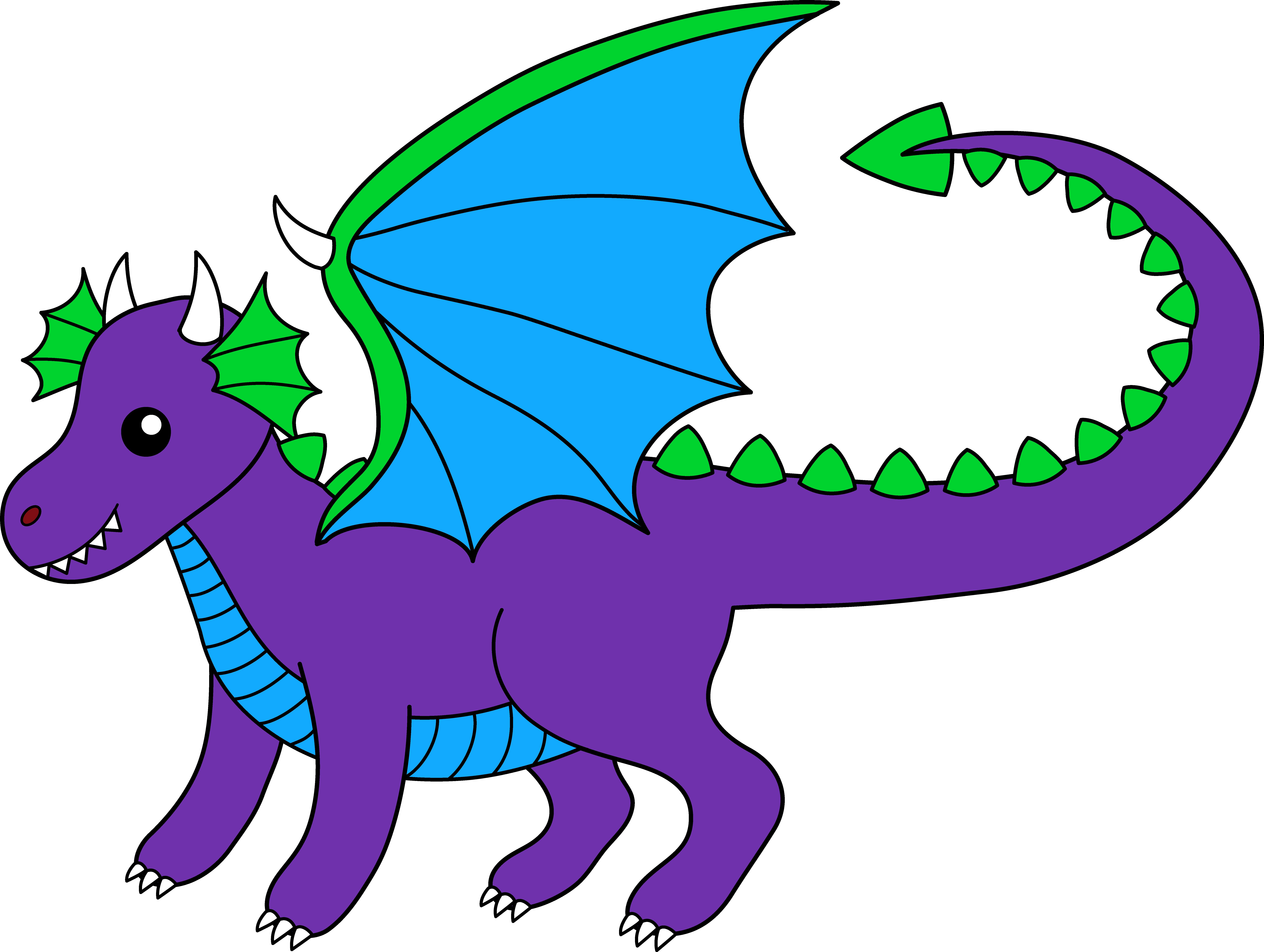 Robot clipart dragon. Purple