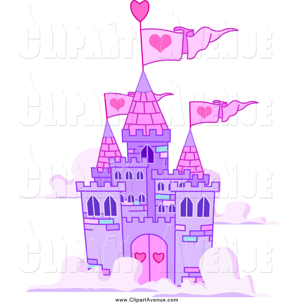 Avenue of a floating. Clipart castle purple