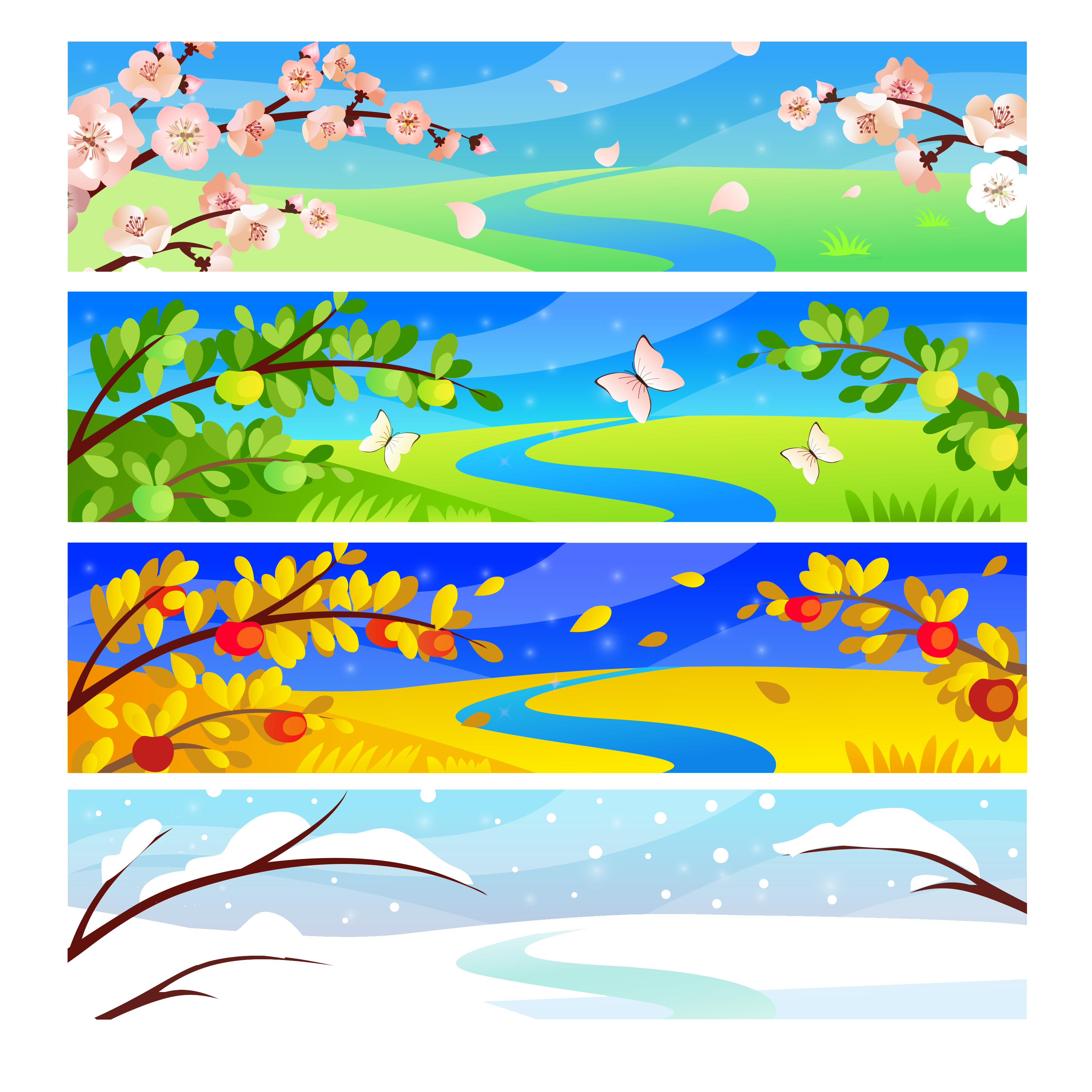 Clipart snow scenery. Four seasons hotels and