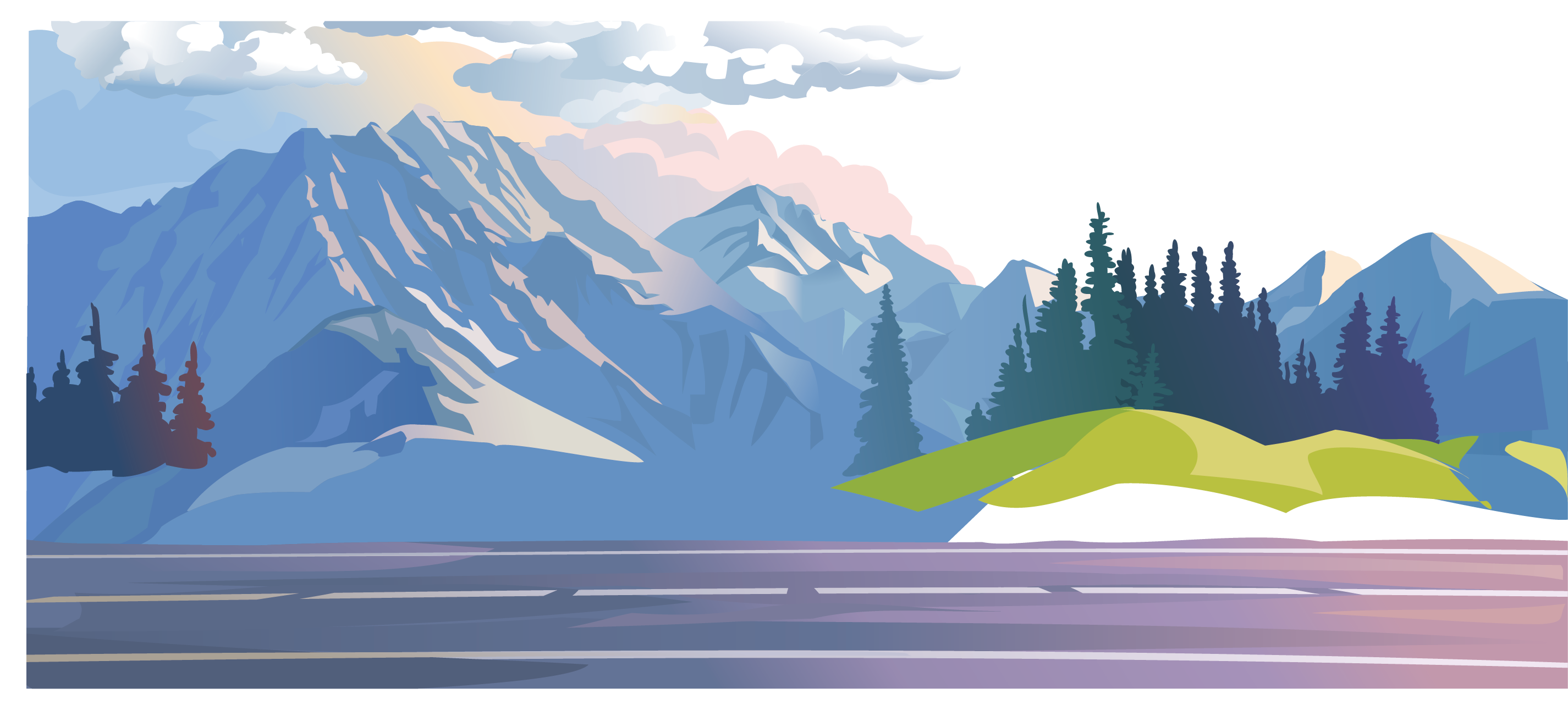 Forest stock illustration clip. Clipart mountain mountain range