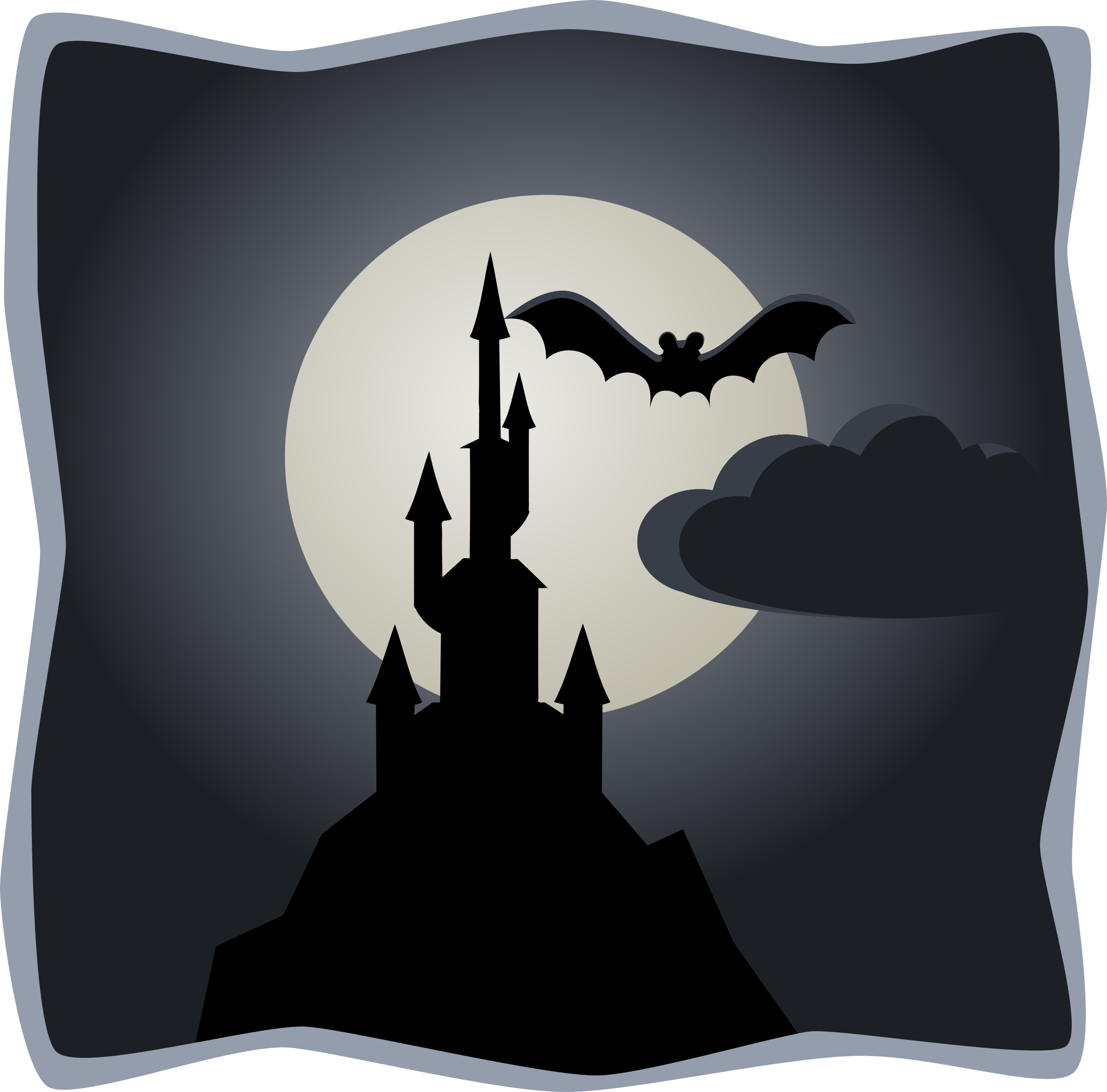 Spooky in full moon. Cool clipart haunted castle