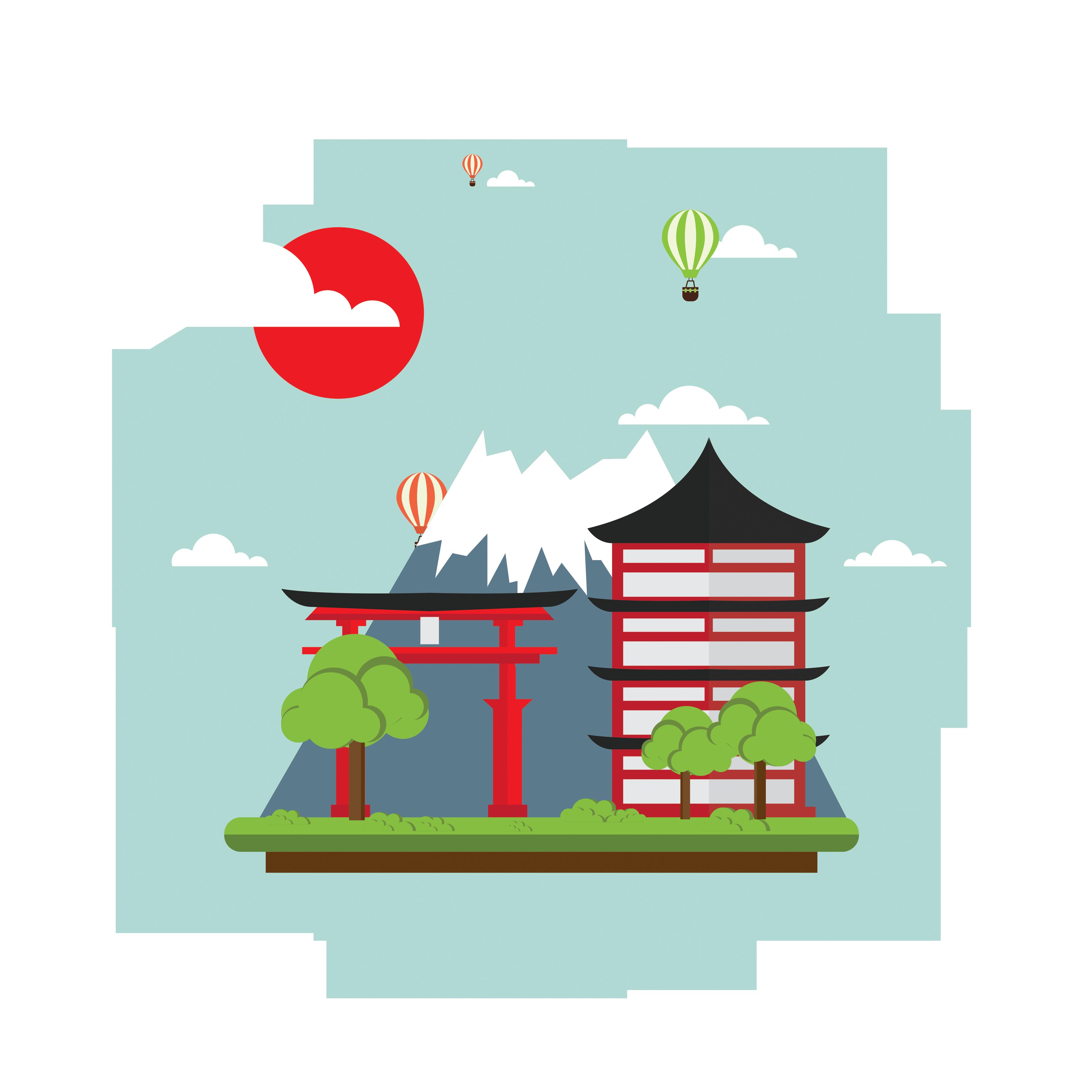 Mount fuji clip art. Clipart castle scenery