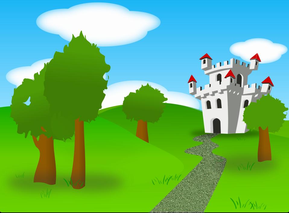 Public domain clip art. Clipart castle scenery