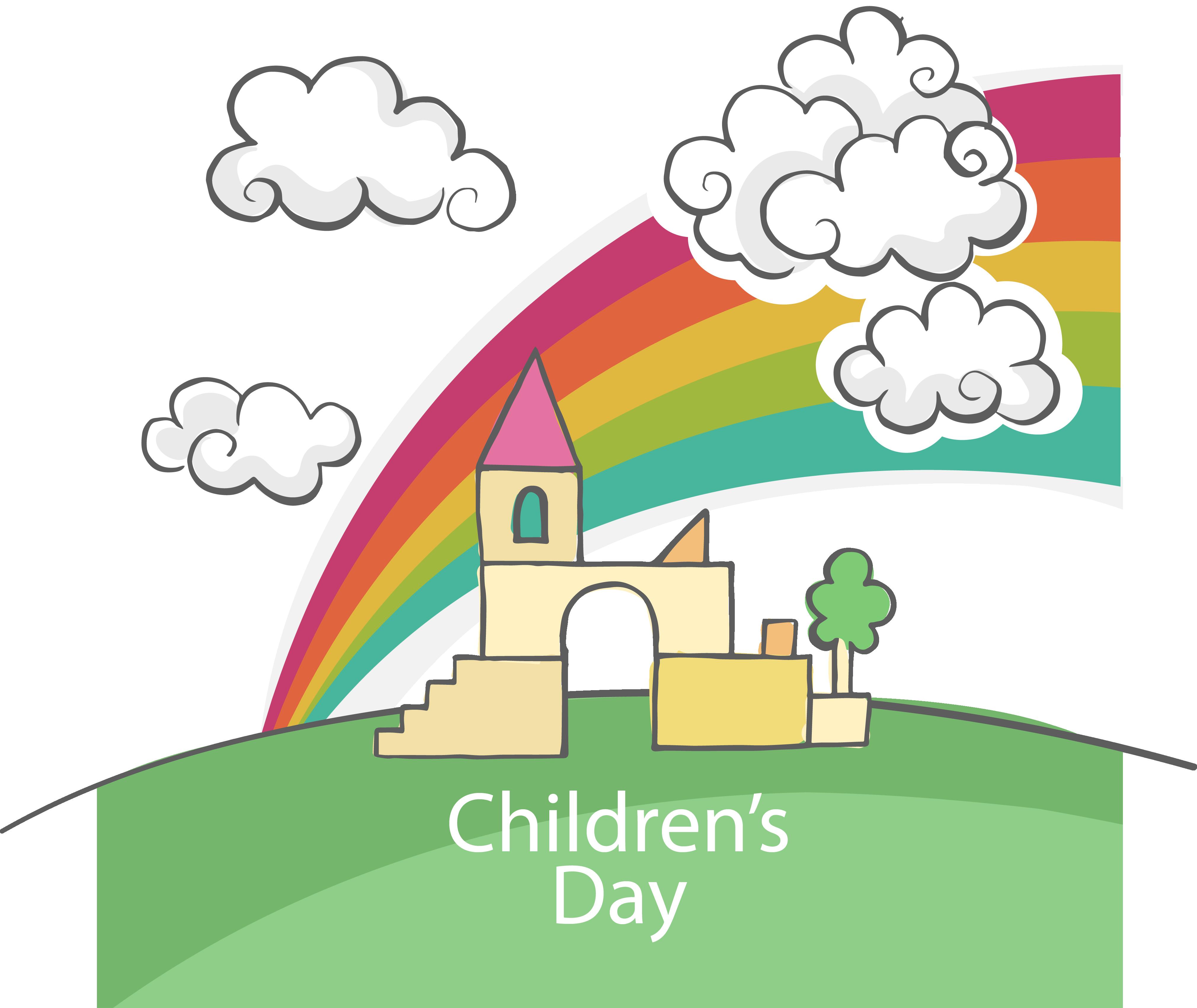 Clipart castle scenery. Children s day computer