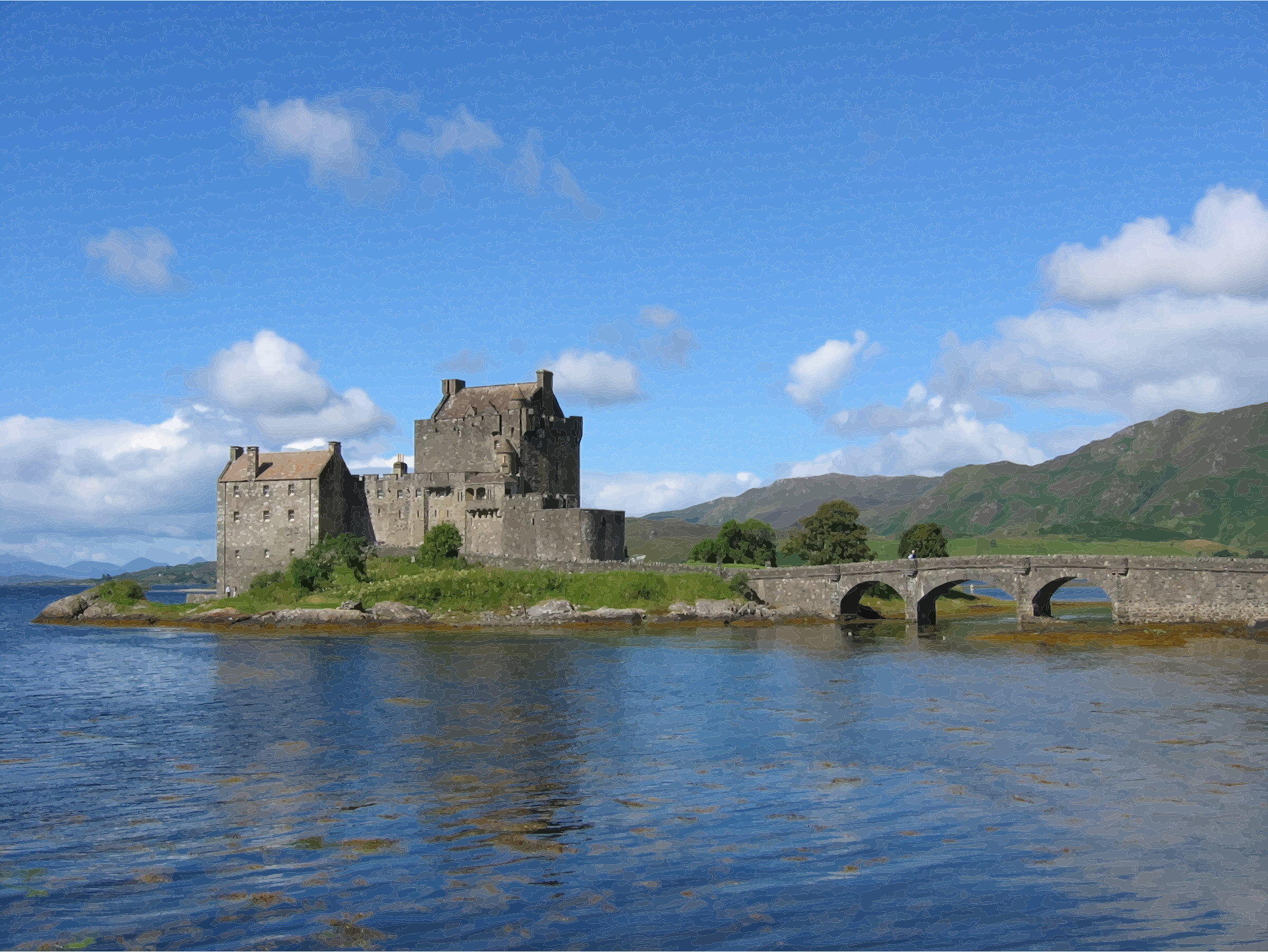 Clipart castle scottish castle. Eilean donan scotland uk