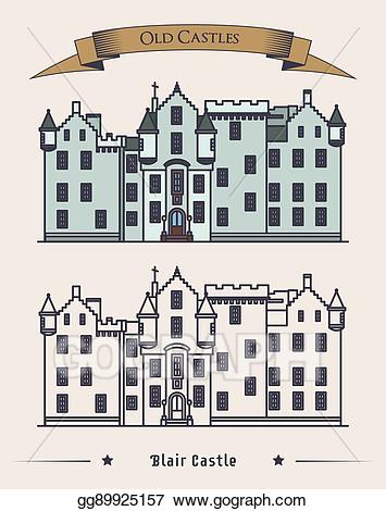 Vector illustration scotland blair. Clipart castle scottish castle