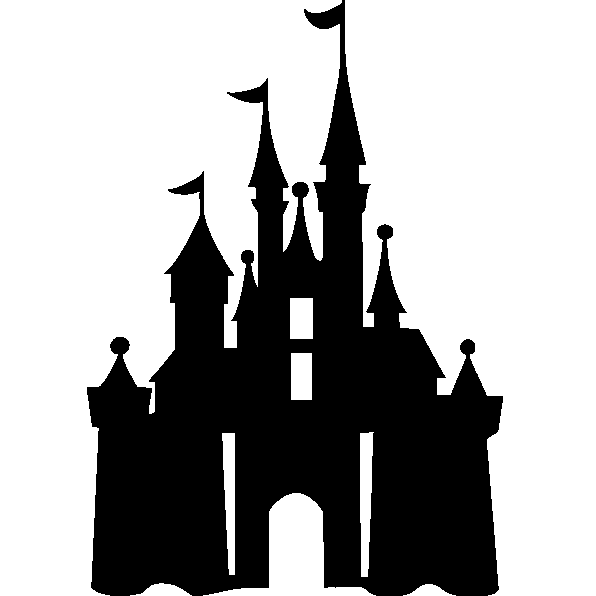 Clipart castle silhouette. Magic kingdom at getdrawings