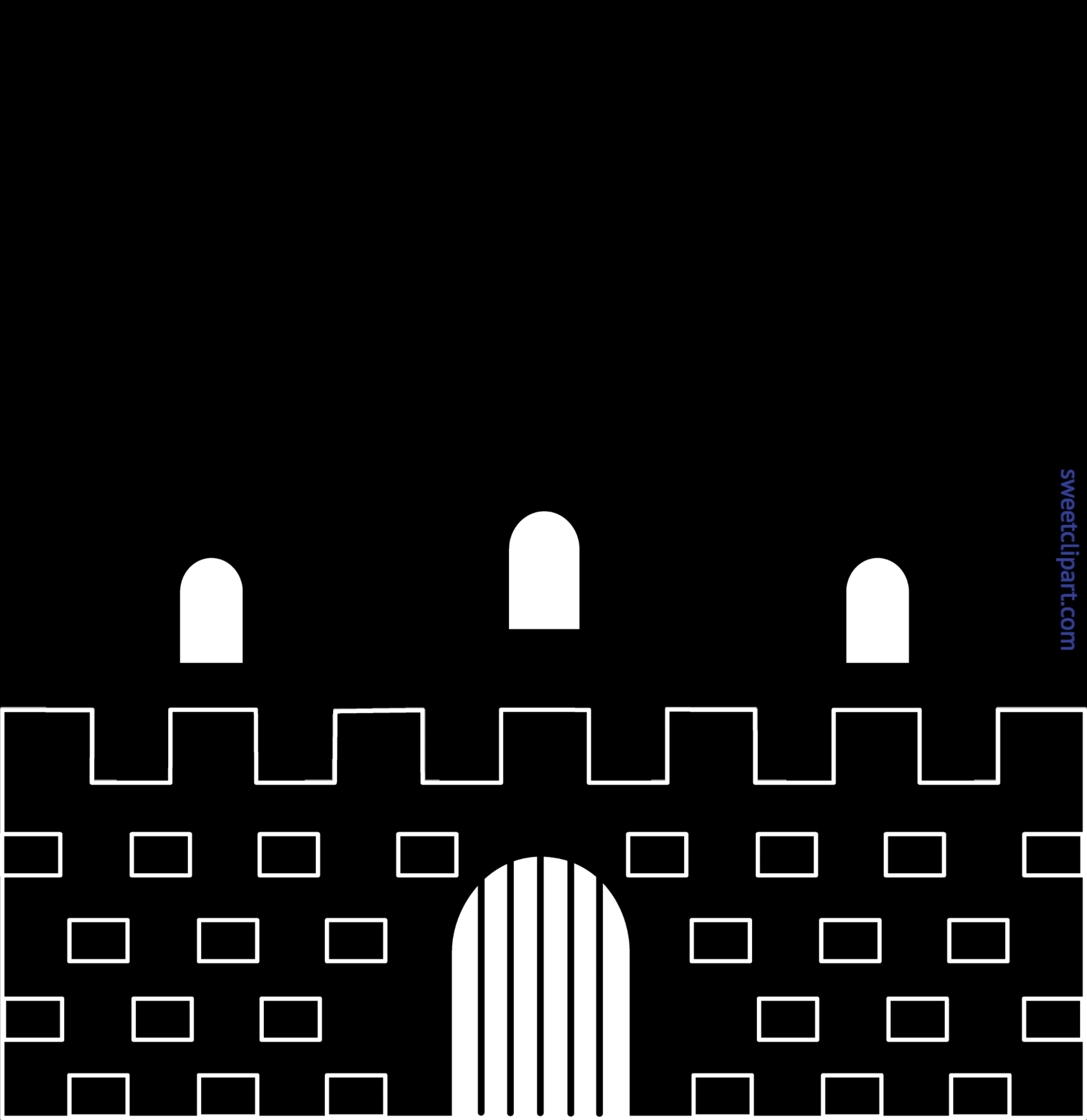 Clip art sweet. Clipart castle silhouette