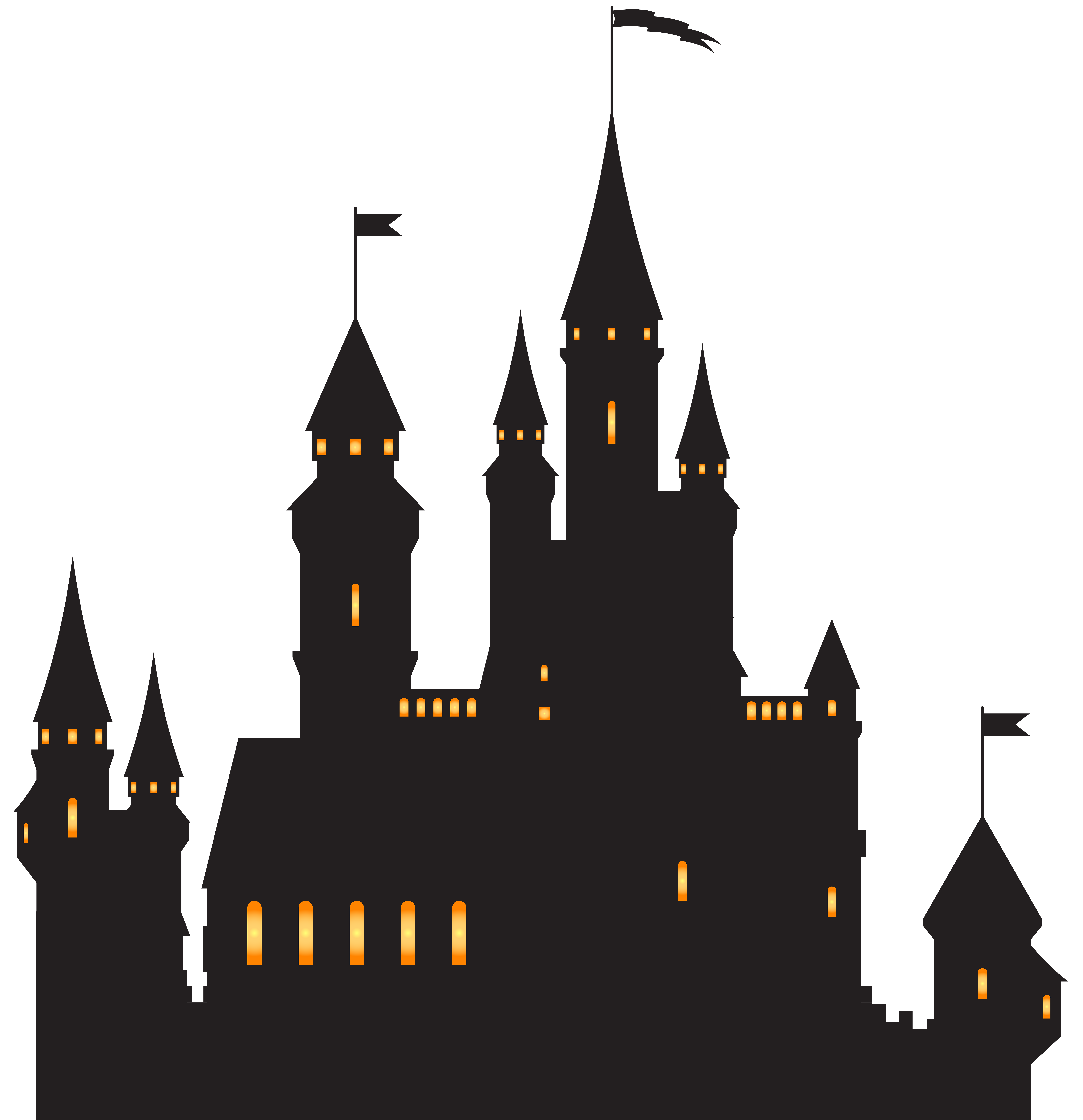 Silhouette png clip ar. Cool clipart haunted castle