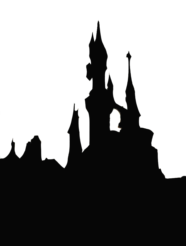 Clipart castle silhouette. By halcyon of time