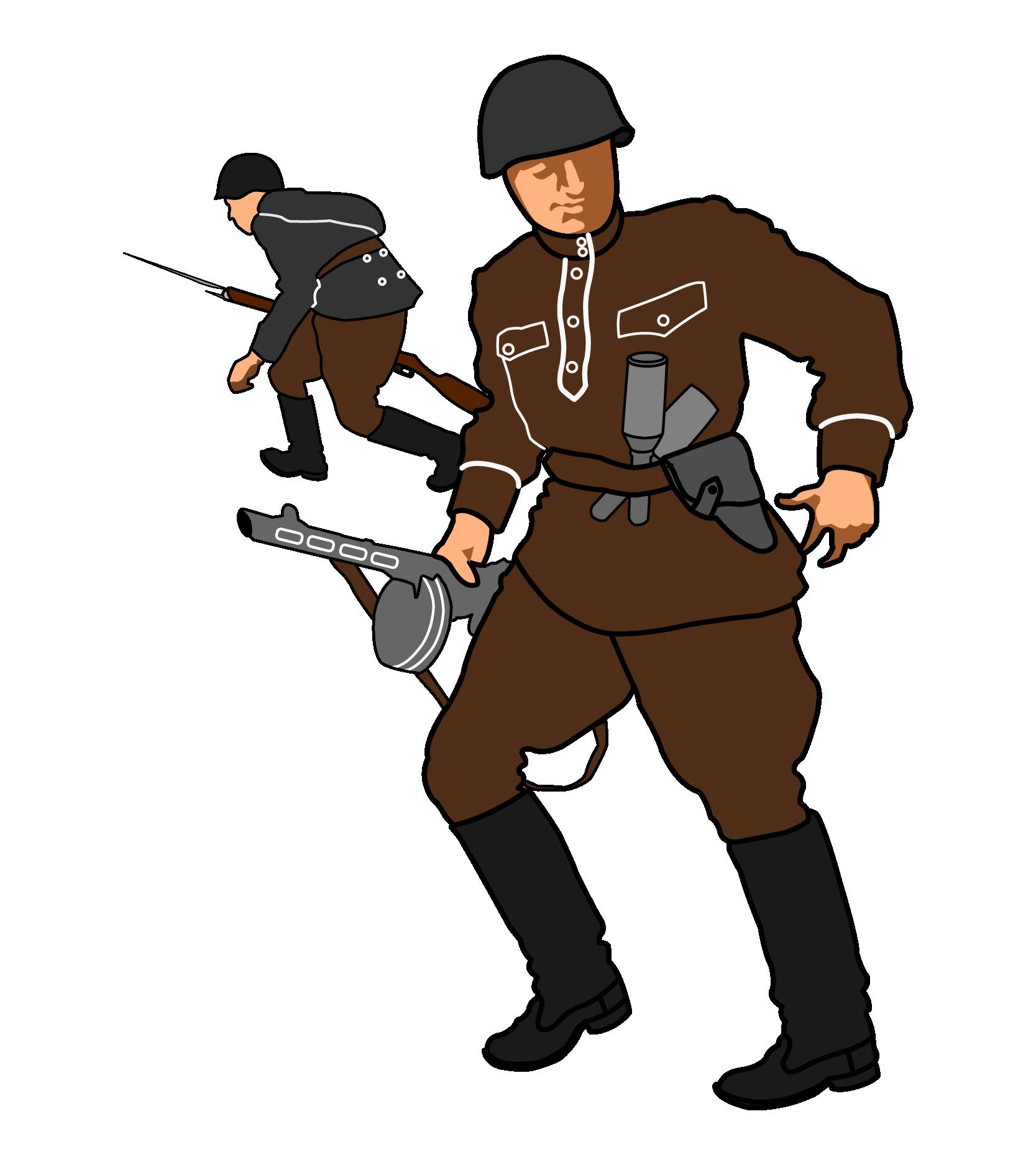 Clipart castle soldiers. Soviet union second world