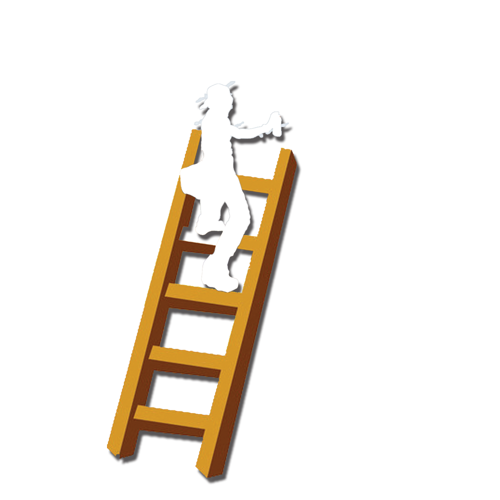 Clipart castle staircase. Climbing man child clip