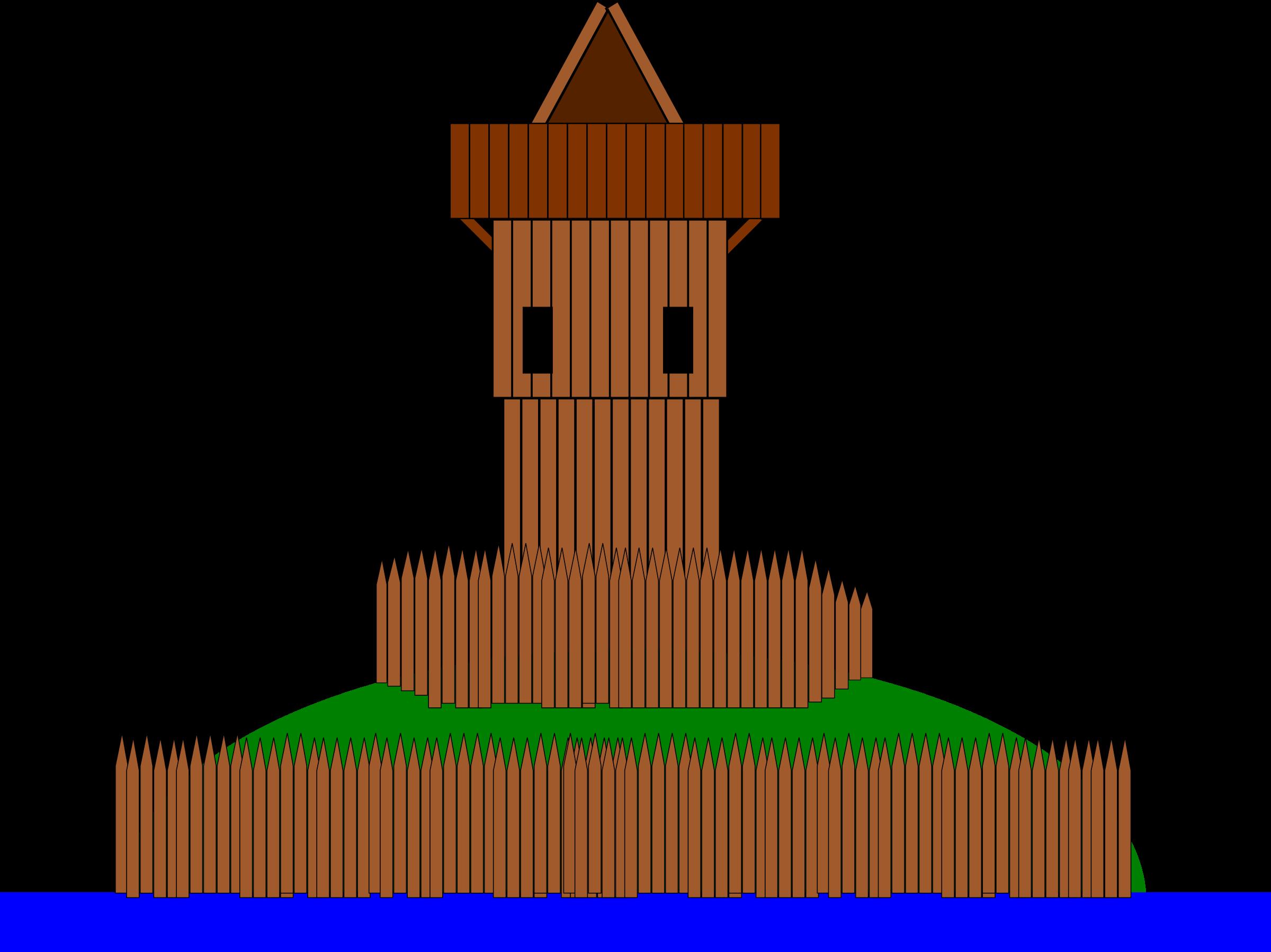 Clipart castle stone castle. Motte big image png
