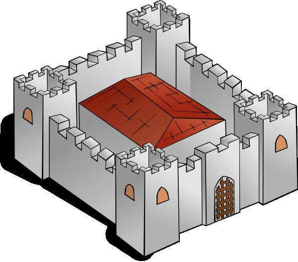 Rpg map fortress clip. Clipart castle symbol