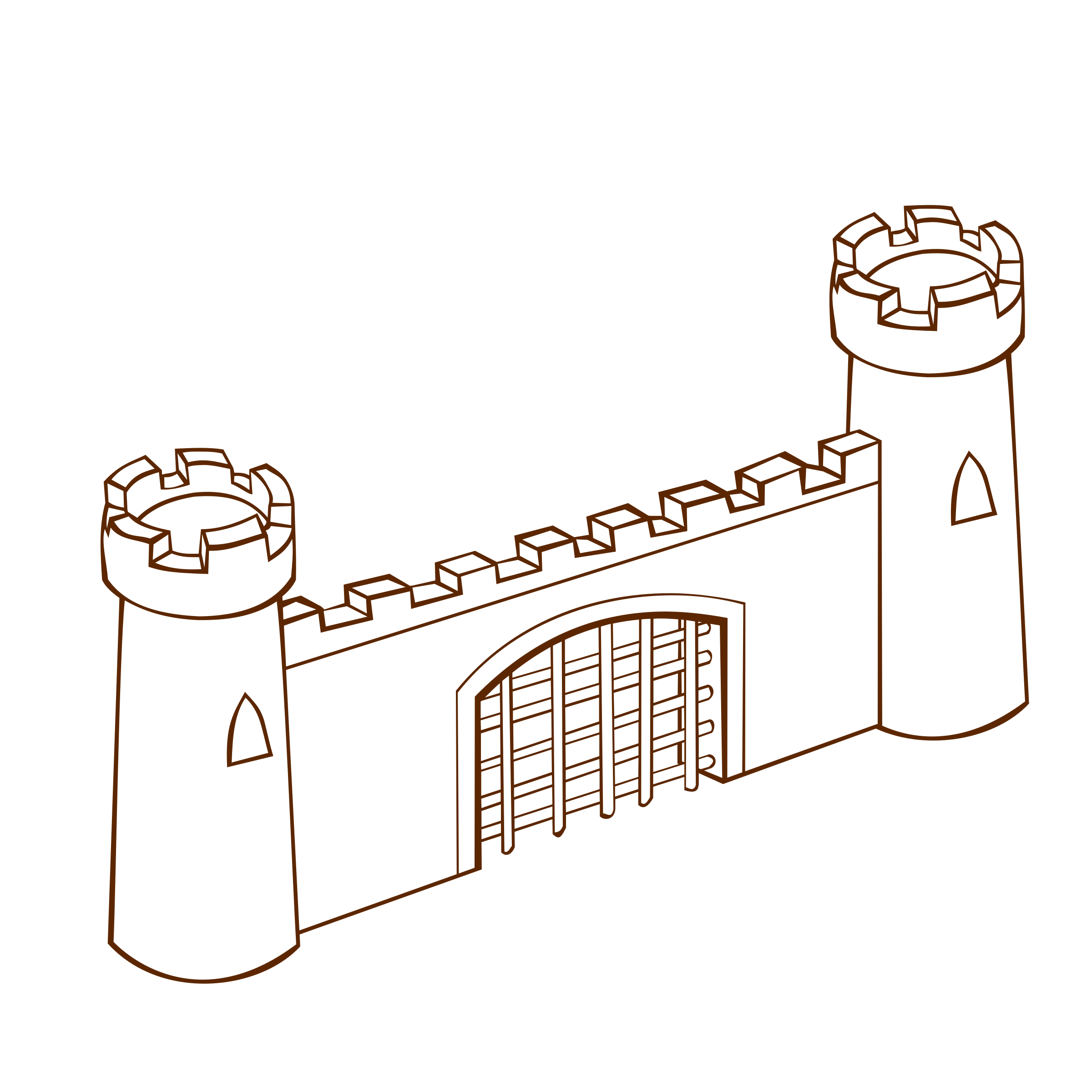 Clipart castle symbol. Rpg map symbols gate