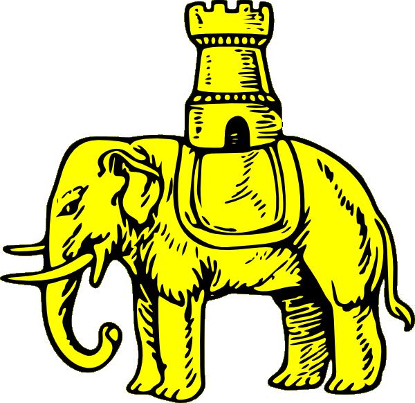 Clipart castle symbol. Gold elephant and clip
