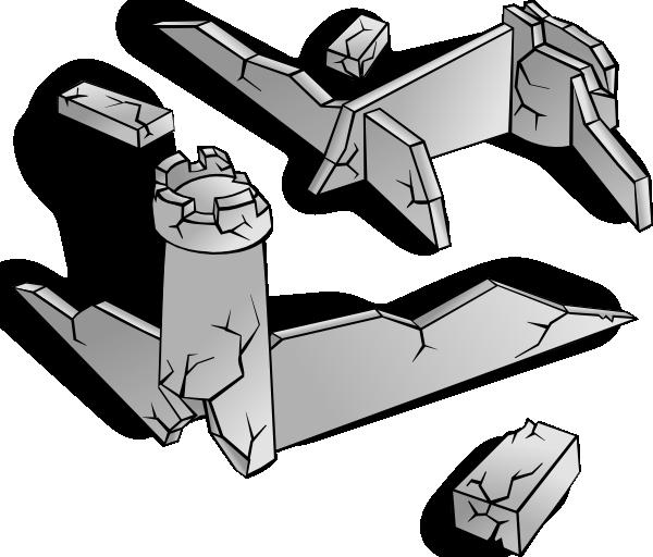 Ruins clip art at. Clipart castle symbol