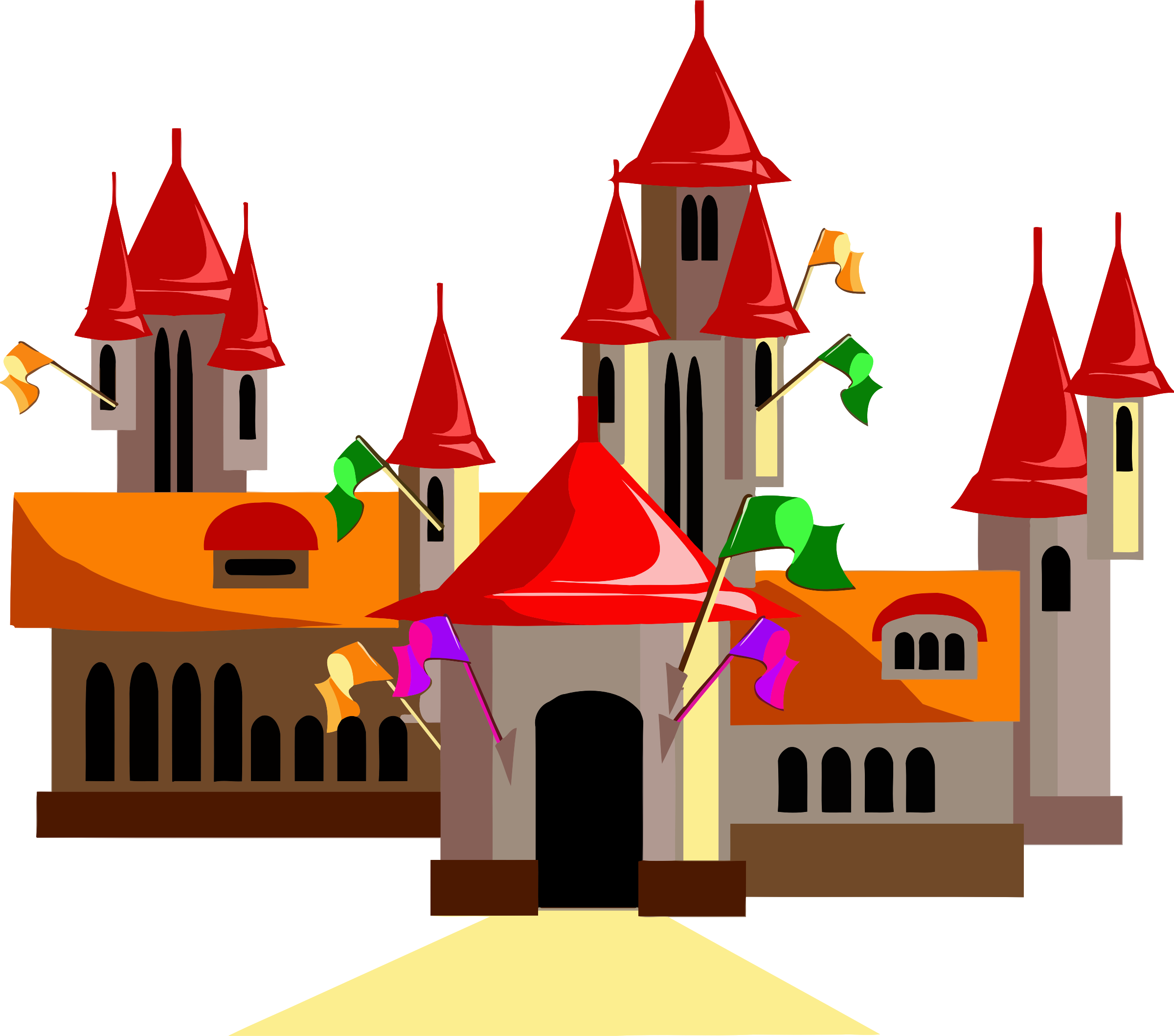 Clipart castle symbol. Fairytale icons png free