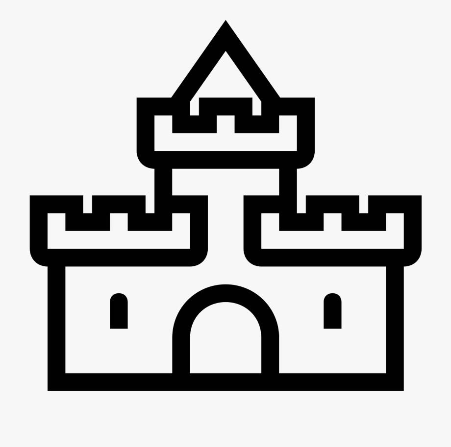 Clipart castle symbol. Icon burg free cliparts